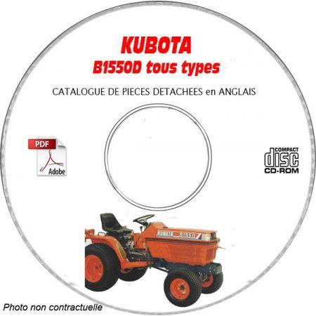 KUBOTA B1550D Manuel Pieces CDROM Anglais