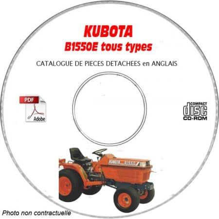 KUBOTA B1550E Manuel Pieces CDROM Anglais