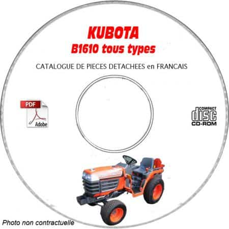 B1610 - Catalogue Pieces CDROM KUBOTA FR