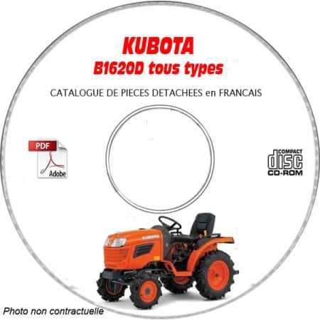 B1620D - Catalogue Pieces CDROM KUBOTA FR