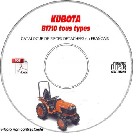 B1710-DS - Catalogue Pieces CDROM KUBOTA FR