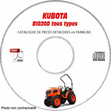 B1820D - Catalogue Pieces CDROM KUBOTA FR