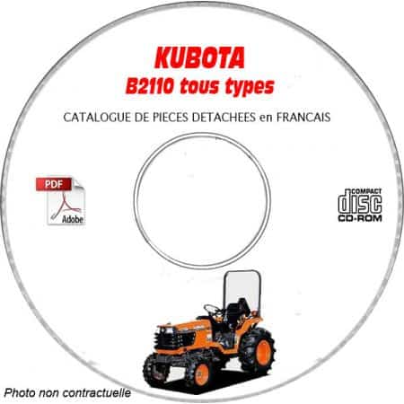 B2110-DS - Catalogue Pieces CDROM KUBOTA FR