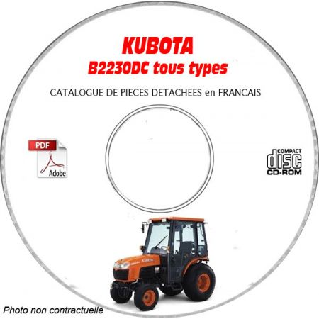 B2230-DC - Catalogue Pieces CDROM KUBOTA FR