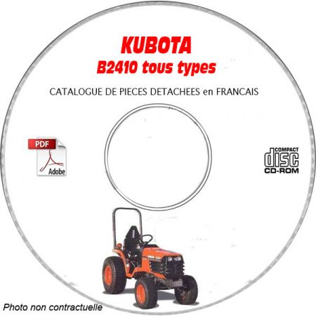 B2410 - Catalogue Pieces CDROM KUBOTA FR