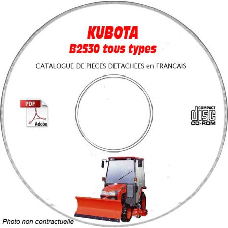 B2530 - Catalogue Pieces CDROM KUBOTA FR