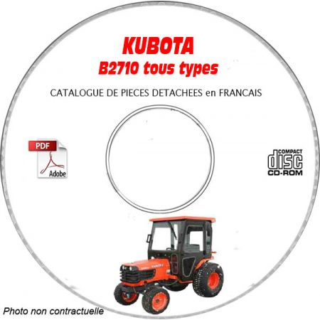 B2710 - Catalogue Pieces CDROM KUBOTA FR