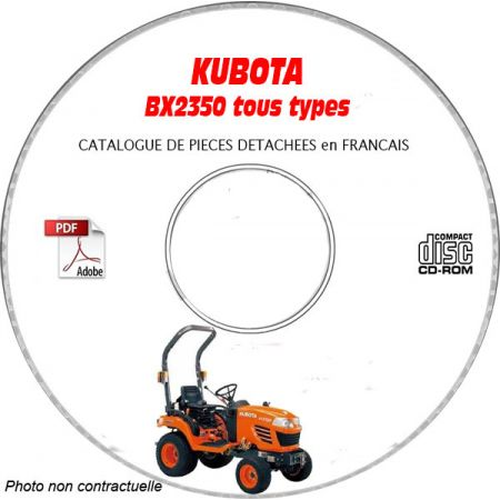 BX2350 - Catalogue Pieces CDROM KUBOTA FR