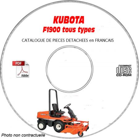 F1900 -08 Catalogue Pieces CDROM KUBOTA FR