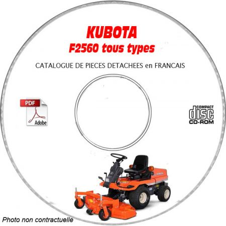 F2560 -06 Catalogue Pieces CDROM KUBOTA FR