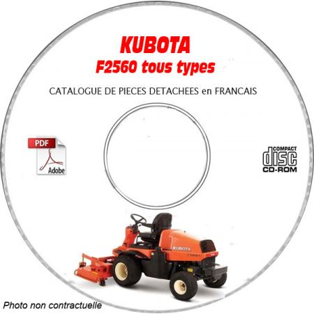 F2880 -07 Catalogue Pieces CDROM KUBOTA FR