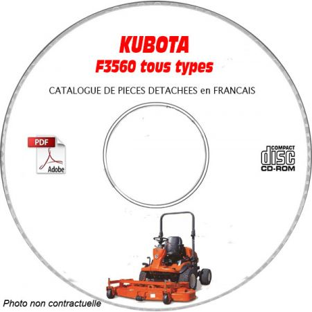 F3560 -06 Catalogue Pieces CDROM KUBOTA FR