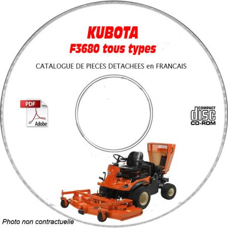 F3680 -07 Catalogue Pieces CDROM KUBOTA FR