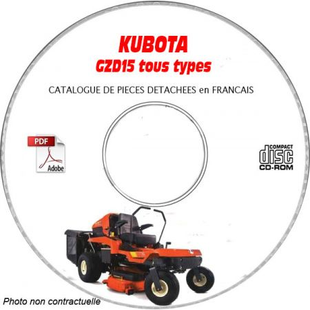GZD 15 -06 Catalogue Pieces CDROM KUBOTA FR