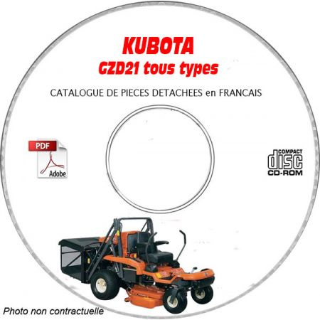 GZD 21 -04 Catalogue Pieces CDROM KUBOTA FR