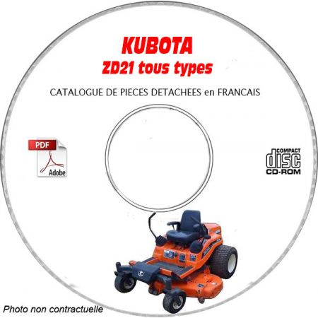 ZD 21 -08 Catalogue Pieces CDROM KUBOTA Anglais