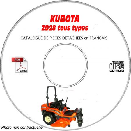 ZD 28 -08 Catalogue Pieces CDROM KUBOTA FR