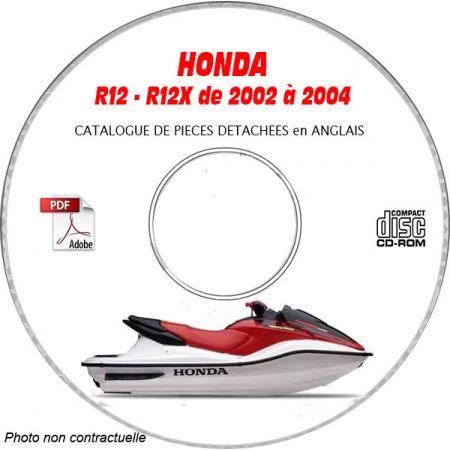 R12 et R12-X 03-04 Catalogue Pièces CDROM HONDA Anglais