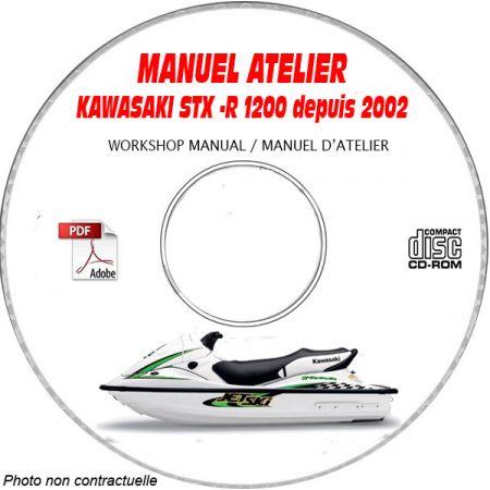 STX-R 1200 -02 Manuel Atelier CDROM KAWASAKI Anglais