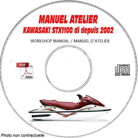 STX1100DI -02 Manuel Atelier CDROM KAWASAKI Anglais