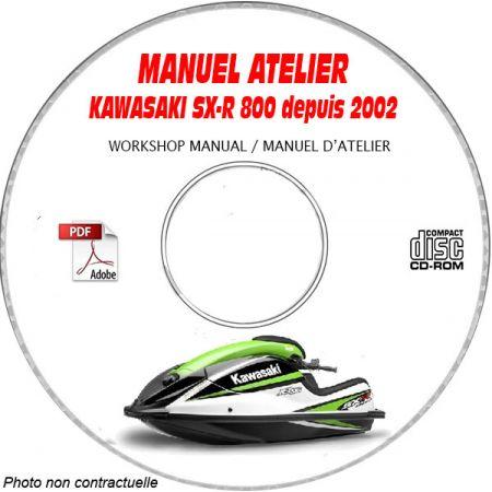 SX-R 800 02-03 Manuel Atelier CDROM KAWASAKI Anglais