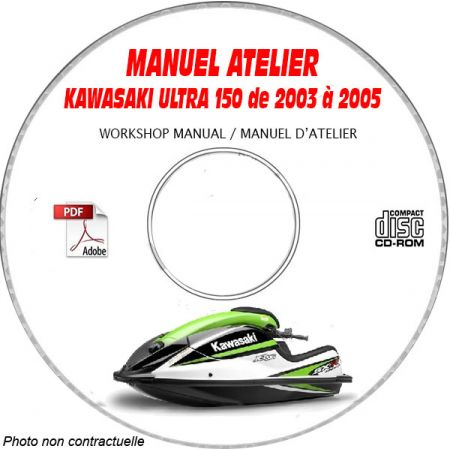 ULTRA 150 03-05 Manuel Atelier CDROM KAWASAKI Anglais