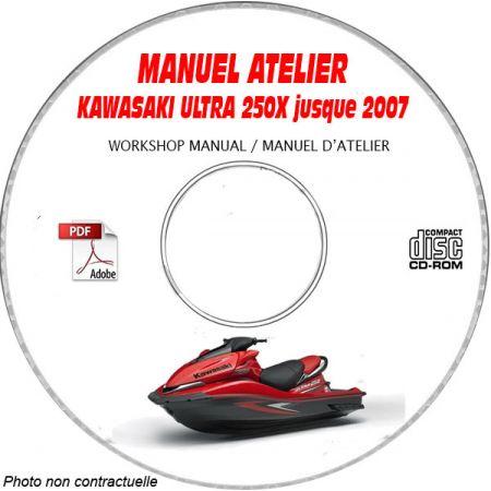 ULTRA 250X -07 Manuel Atelier CDROM KAWASAKI FR
