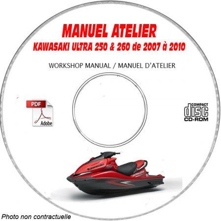 ULTRA 250X 07-10 Manuel Atelier CDROM KAWASAKI Anglais