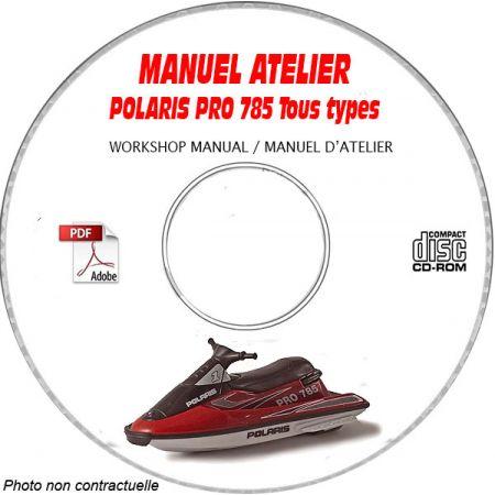 PRO 785 -03 Manuel Atelier CDROM POLARIS Anglais