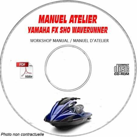 FX SHO WAVERUNNER 07-08 Manuel Atelier CDROM YAMAHA anglais Revue technique