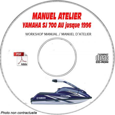 SJ 700 AU SUPERJET -96 Manuel Atelier CDROM YAMAHA anglais Revue technique