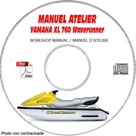 XL 760 WAVERUNNER -  Manuel Atelier CDROM YAMAHA Anglais