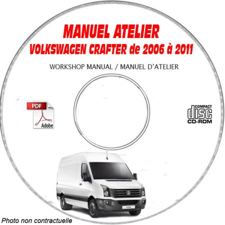 CRAFTER 06-11 - Manuel Atelier CDROM VW Anglais
