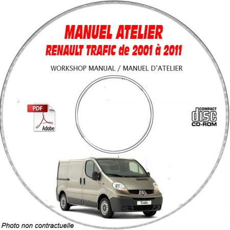 TRAFIC 01-11 Manuel Atelier CDROM RENAULT FR