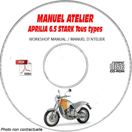 6.5 STARCK -98 Manuel Atelier CDROM APRILIA Anglais