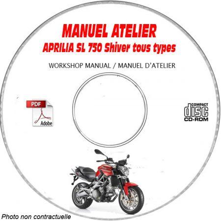 SL 750 SHIVER -07 Manuel Atelier CDROM APRILIA Anglais