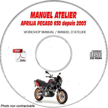 Pegaso 650 05- Manuel Atelier CDROM APRILIA Anglais