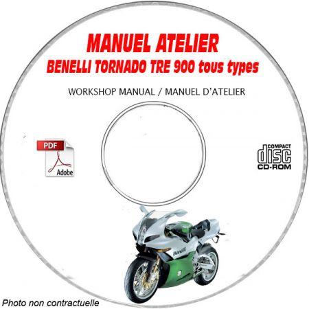 TORNADO TRE 900 -10 Manuel Atelier CDROM BENELLI Anglais