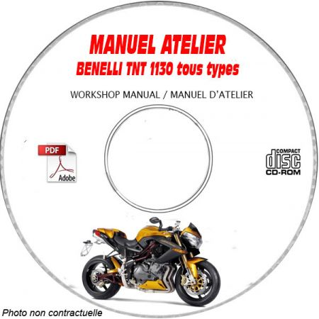 TNT 1130 -10 Manuel Atelier CDROM BENELLI Anglais
