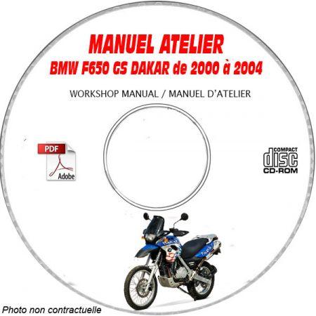 F650 GS DAKAR 00-04 Manuel Atelier CDROM BMW