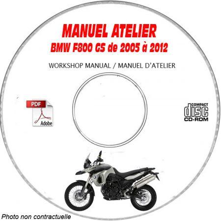 F800 GS 07-12 Manuel Atelier CDROM BMW