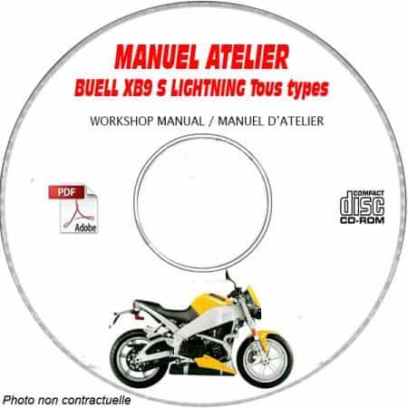 XB9S LIGHTNING - Manuel Atelier CDROM BUELL Anglais