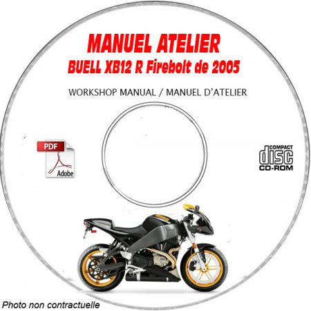 XB1R FIREBOLT 2005 Manuel Atelier CDROM BUELL Anglais