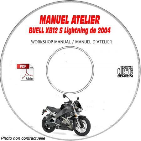XB12 LIGHTNING 2004 Manuel Atelier CDROM BUELL Anglais