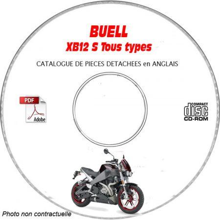 XB12S LIGHTNING 2007 Catalogue Pièces CDROM BUELL Anglais