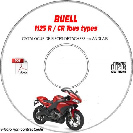 1125CR 2009 Catalogue Pièces CDROM BUELL Anglais