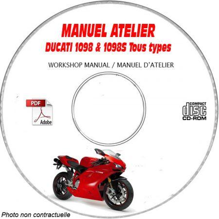 1098-1098S 2007 Manuel Atelier CDROM DUCATI Anglais