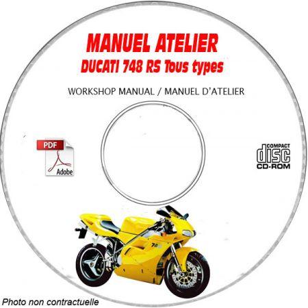748RS 2000 Manuel Atelier CDROM DUCATI Anglais italien