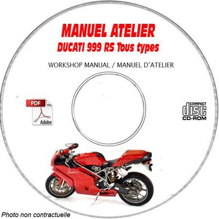 999RS 2004 Manuel Atelier CDROM DUCATI Anglais italien