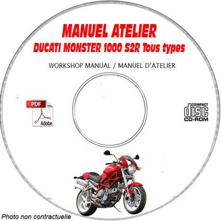 MONSTER S2R 1000 2006 Manuel Atelier CDROM DUCATI Anglais italien